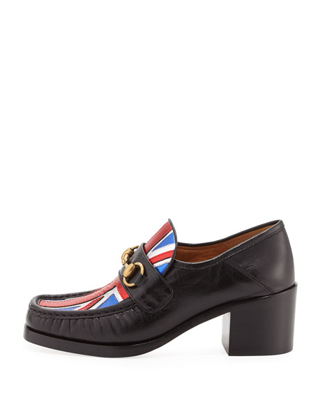 Union Jack Loafer Pump, Black