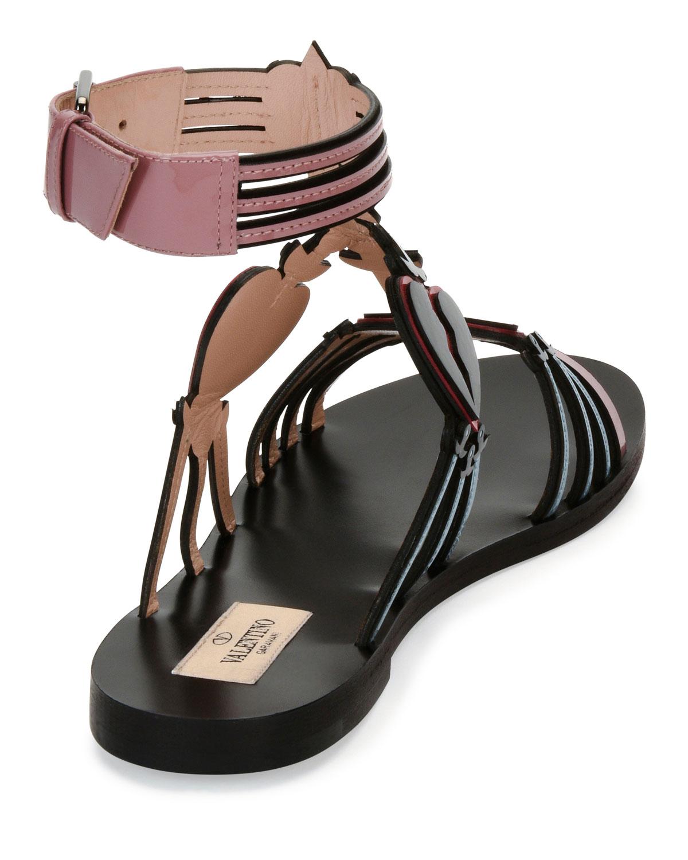 Valentino Loveblade Patent Sandals in China cheap online 5Z3g3IOf