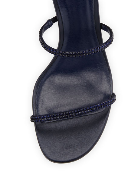 Crystal Snake 40mm Sandal, Blue