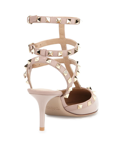 Rockstud Caged 65mm Pump, Powder (Poudre)