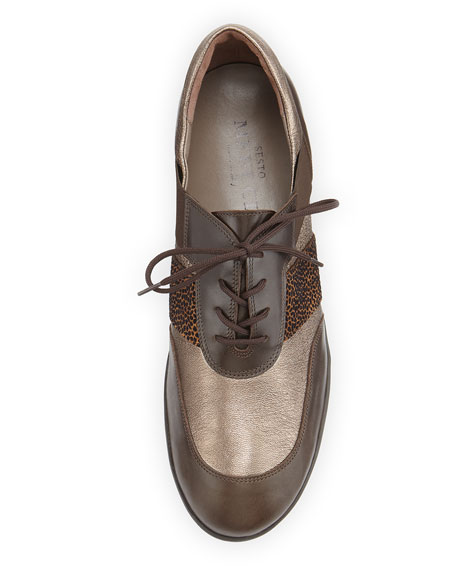 Hamid Lace-Up Sneaker, Brass