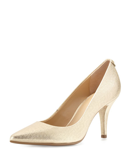 MK-Flex Leather Mid-Heel Pump