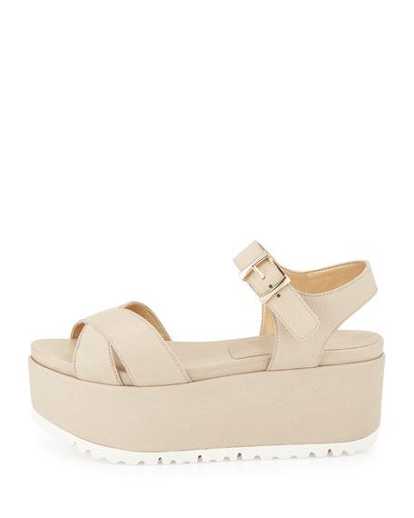 Crosspath Platform Leather Sandal