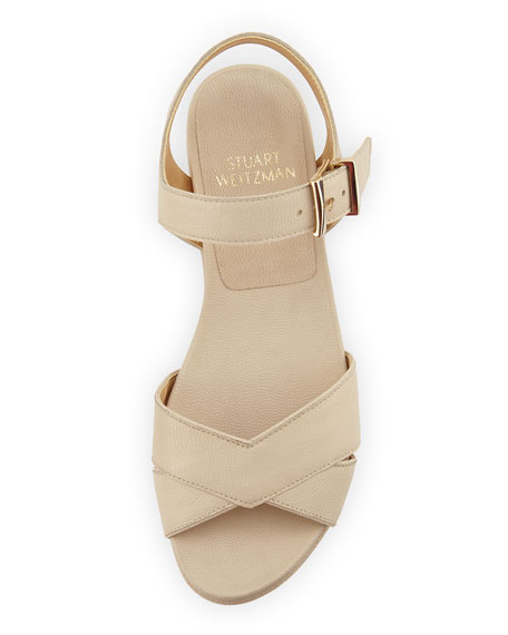 Crosspath Platform Leather Sandal