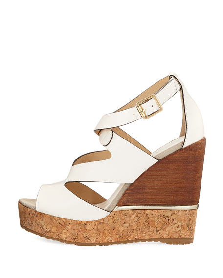 Nate 120mm Crisscross Wedge Sandal