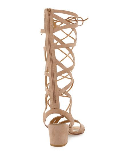 Grecian Suede Tall Gladiator Sandal