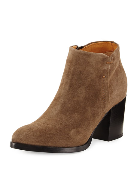 Anzio Suede Ankle Bootie, Olive