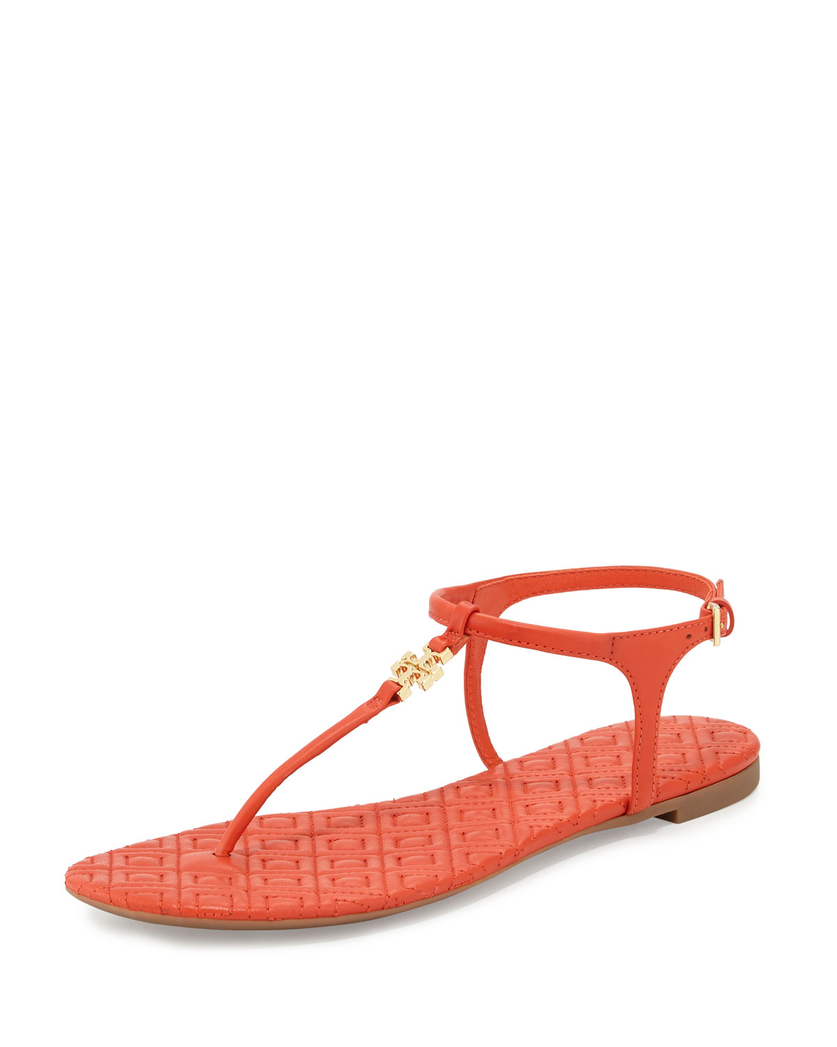 db3b382beee Tory Burch Marion Quilted T-Strap Sandal