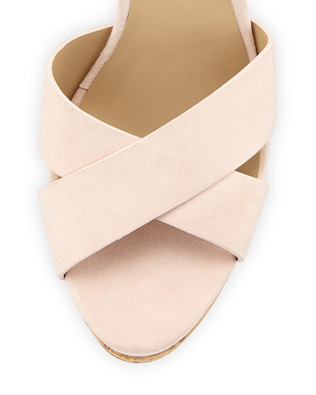 Cate Suede Wedge Sandal