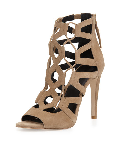 clearance buy Rebecca Minkoff Suede Caged Sandals cheap sale collections discount best wholesale outlet low shipping tbhTB