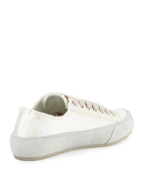 Parson Satin Low-Top Lace-Up Sneaker