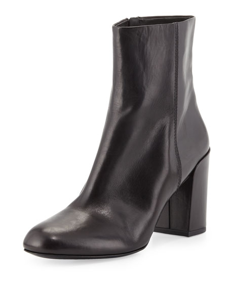 Alexander Wang Hana Leather Ankle Boot, Black