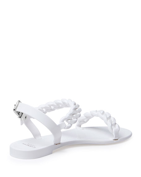 a3872035bfc7 Givenchy Chain Jelly Flat Sandal