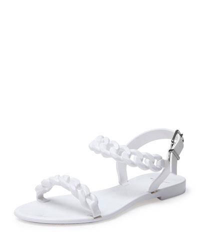 17cbe478c5c7 Givenchy Chain Jelly Flat Sandal