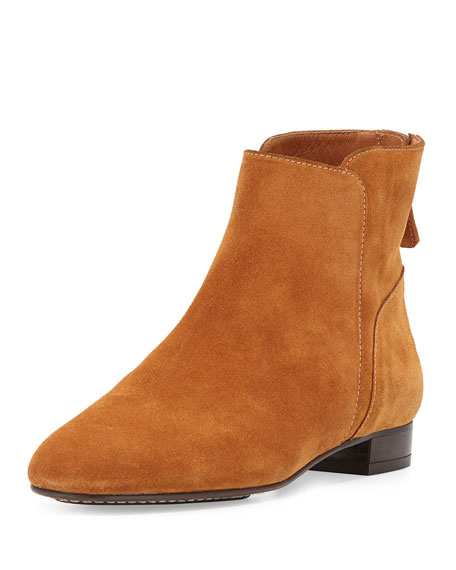 Delman Myth Suede Ankle Boot, Teak