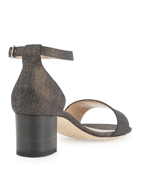 Lauratomod Denim Ankle-Wrap Sandal
