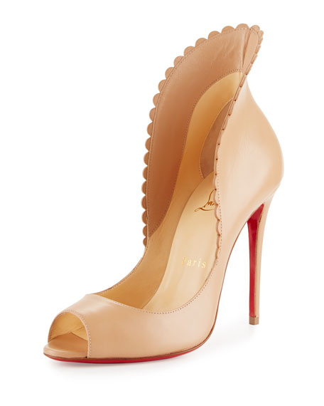 Pijonina 100 Scalloped Suede Pumps - Red Christian Louboutin jZ51Gw