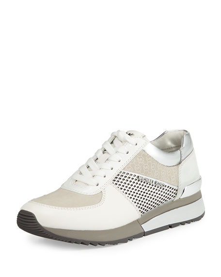 Allie Mixed-Media Trainer Sneaker