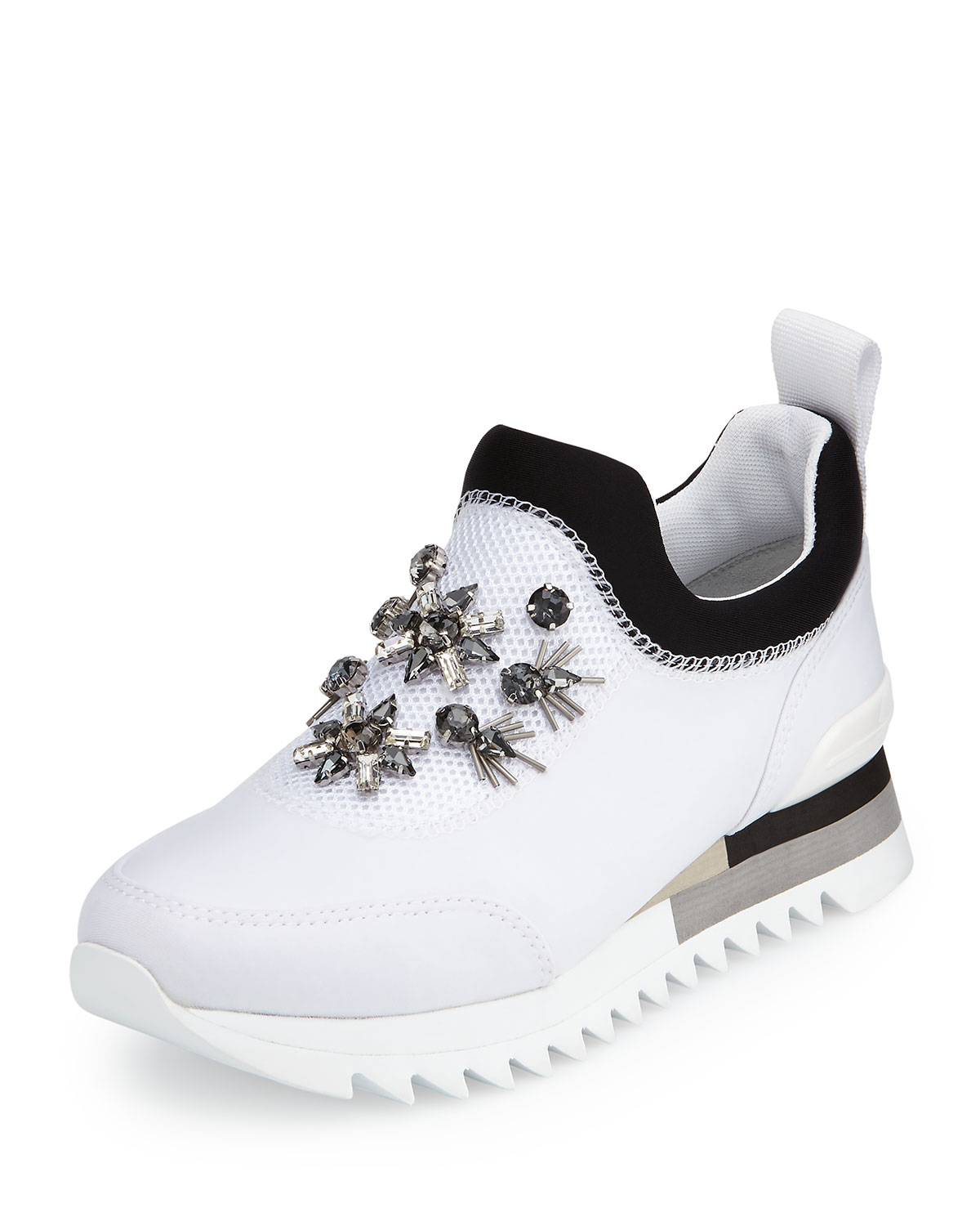 a4f335e58 Tory Burch Rosas Embellished Runner Sneaker