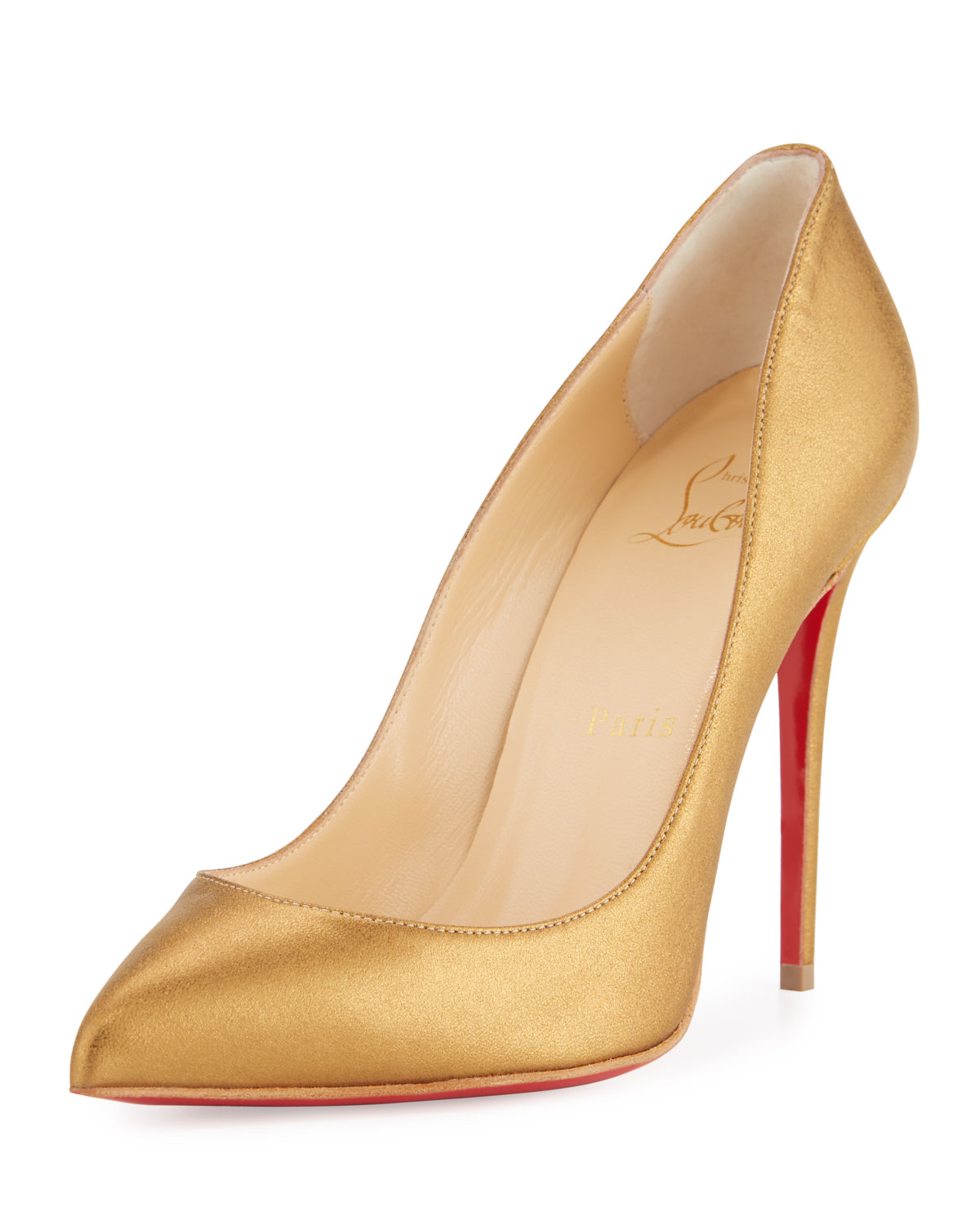 7ea2643336b Christian Louboutin Pigalle Follies Leather 100mm Red Sole Pump ...