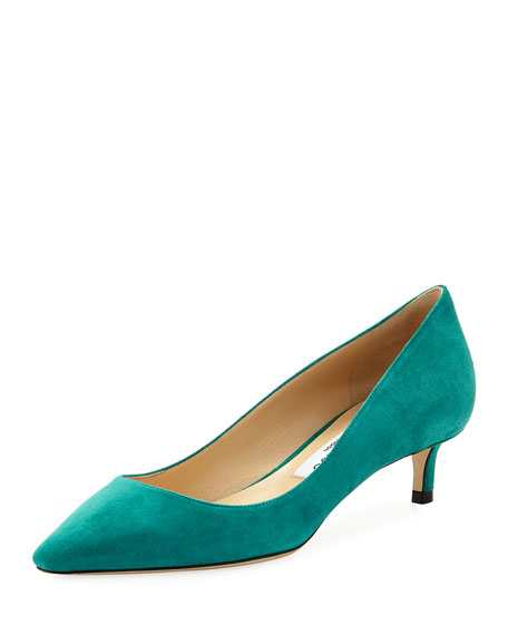 Jimmy Choo Romy Suede Low-Heel Pump