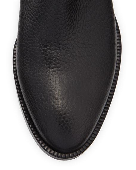 Rockstud Leather 70mm Chunky-Heel Bootie