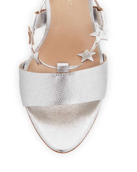 Arielle Strappy Stars Sandals, Silver