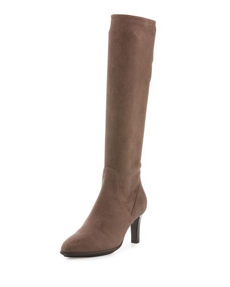 Aquatalia Diane Weatherproof Suede Knee Boot, Black