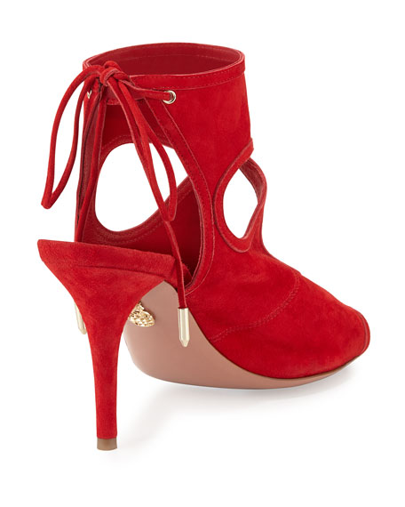 Sexy Thing Suede 105mm Sandal, Lipstick