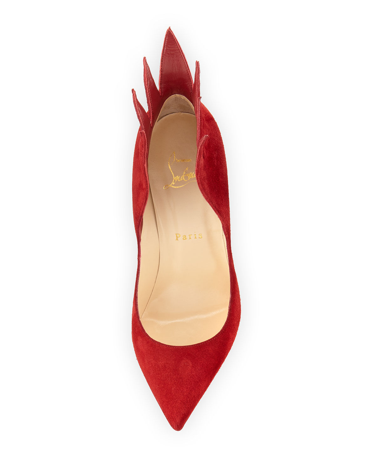 19bbcd3abf9 Victorina Flame 100mm Red Sole Pump, Carmin Red
