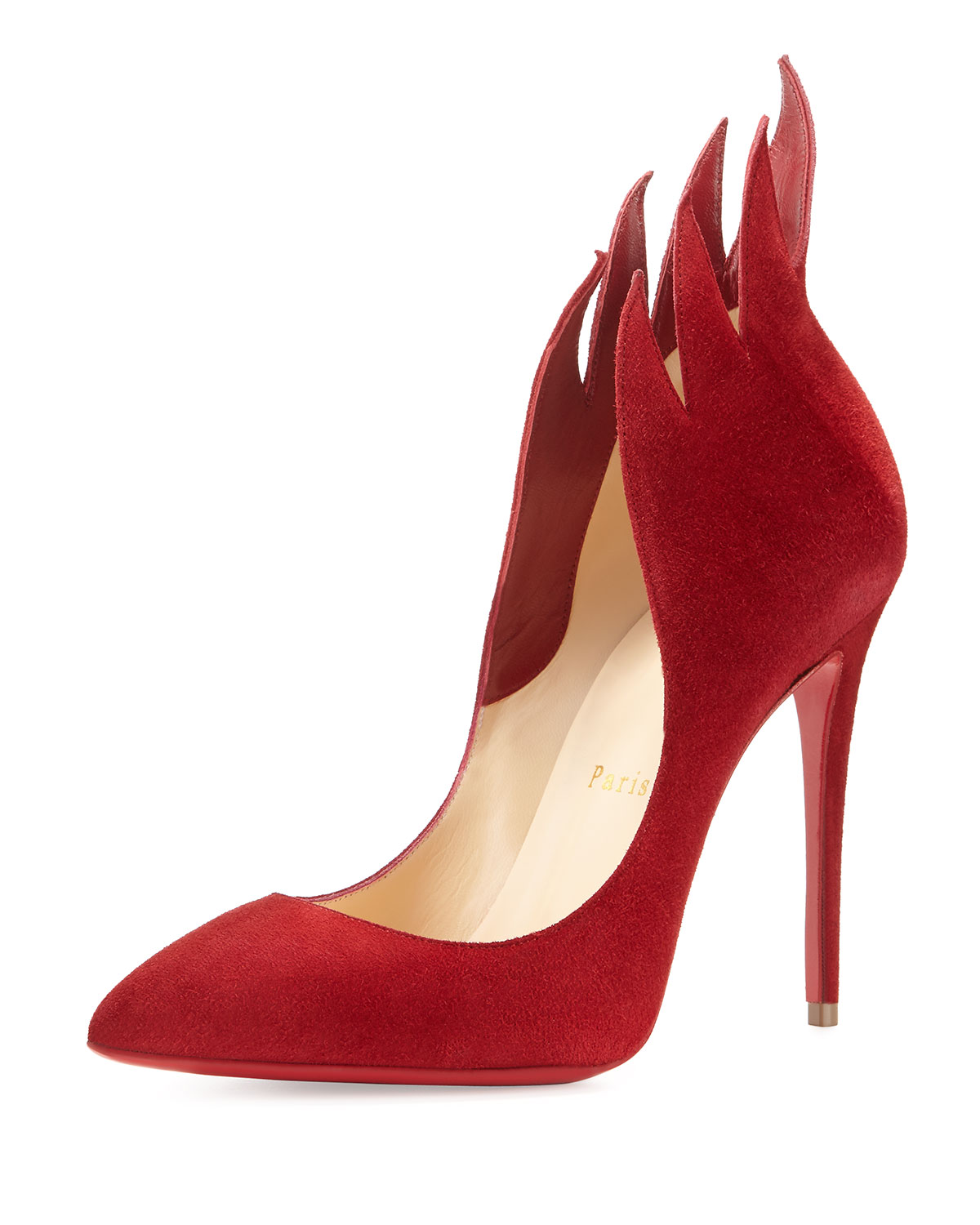 87ce10eb55a Christian Louboutin Victorina Flame 100mm Red Sole Pump
