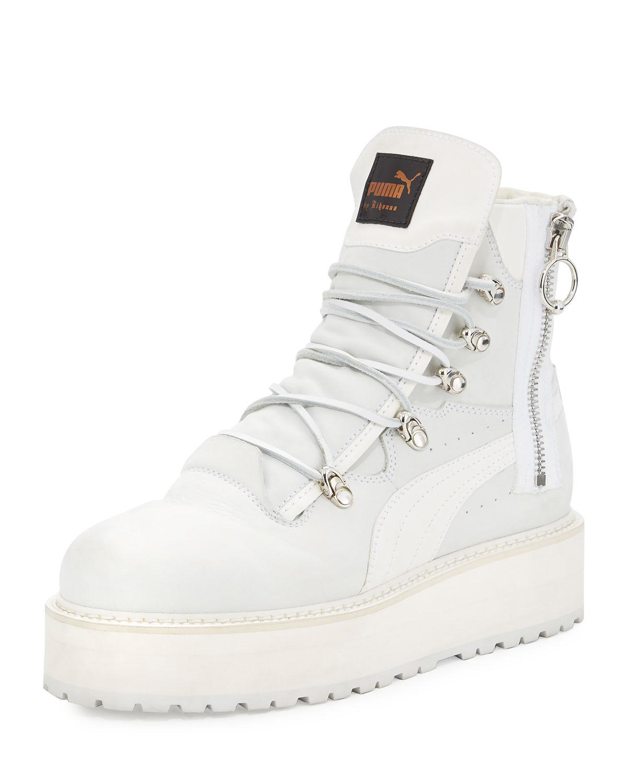 a36e5f630c4d Fenty Puma by Rihanna Leather Platform Sneaker Boot