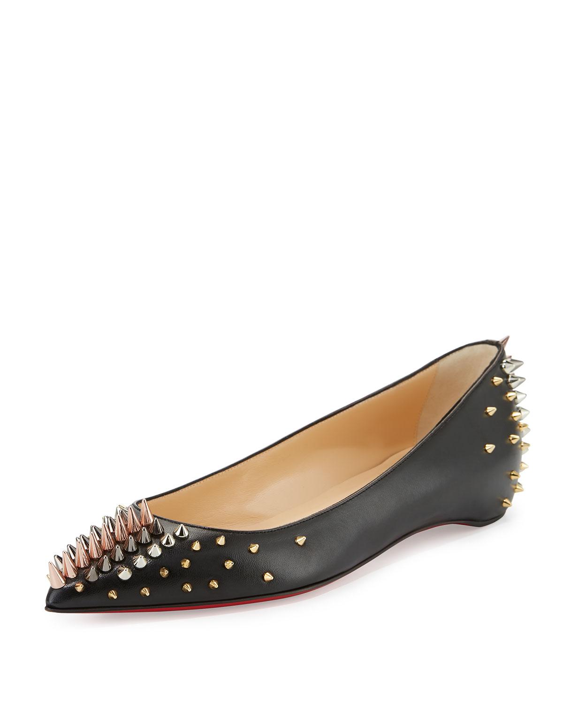 792343f5fa1 Goldoflat Spiked Red Sole Ballerina Flat, Black