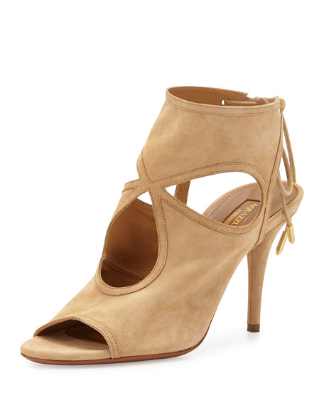 Aquazzura Sexy Thing Suede Cutout Sandal