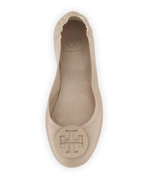 Minnie Travel Logo Ballerina Flat, Fumo