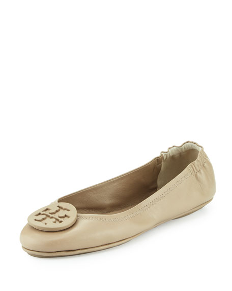 Tory Burch Minnie Travel Logo Ballerina Flat, Fumo