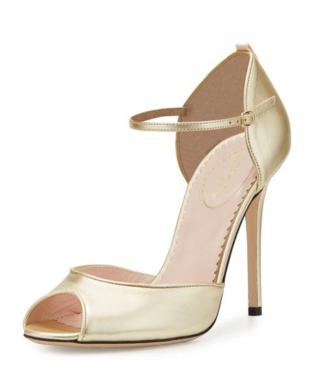 Ursula Peep-Toe Ankle-Strap Sandal