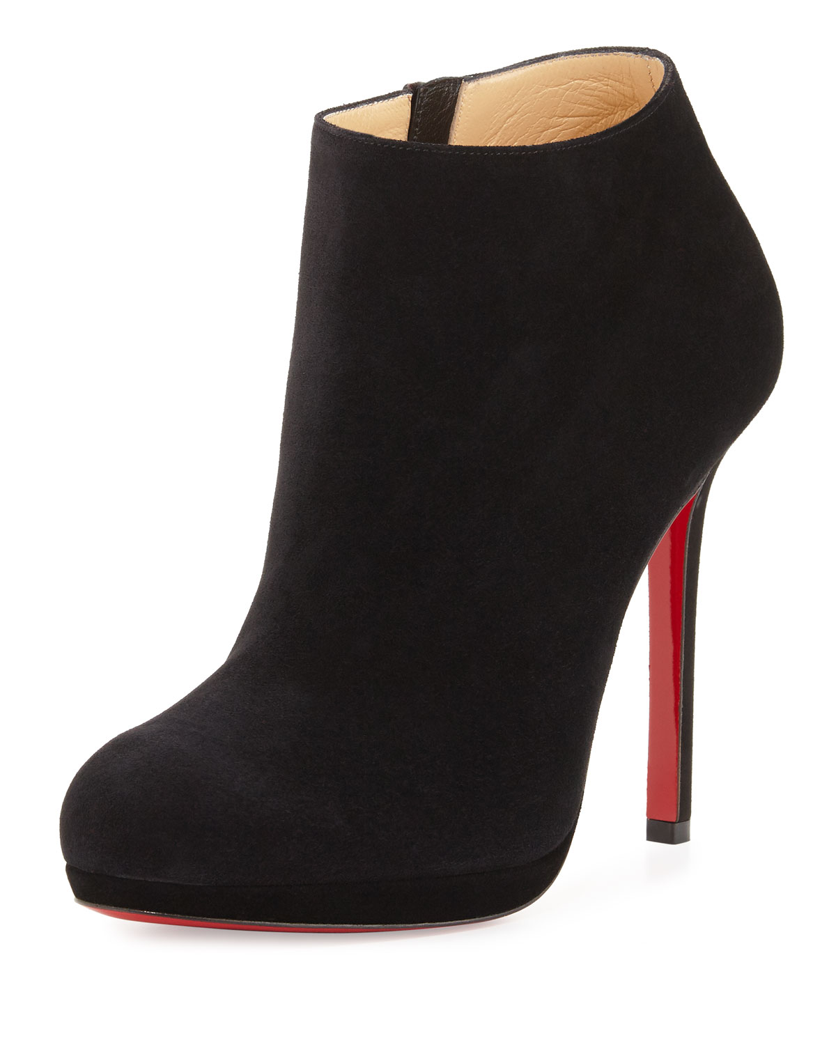 Christian Louboutin Bella Suede 120mm Red Sole Bootie 0f9e83a48