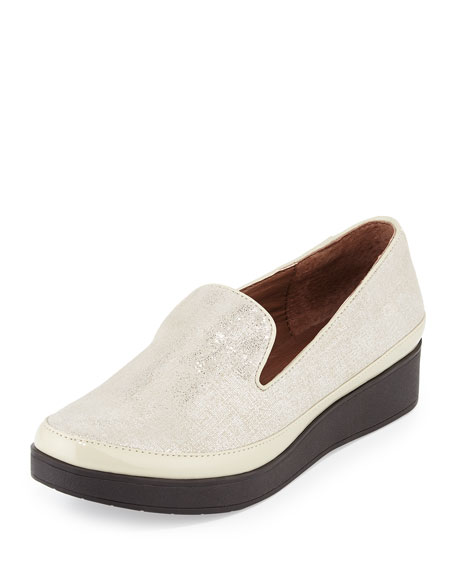 Donald J Pliner Verve Metallic Comfort Slip-On, Light