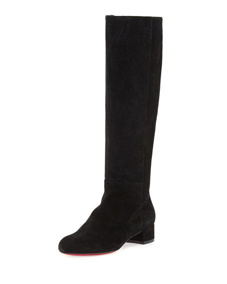 Christian Louboutin Liliboot Suede 30mm Red Sole Knee