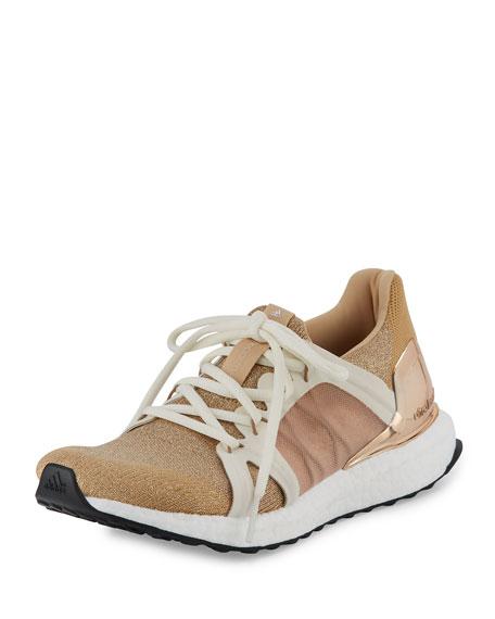 Ultra Boost Sparkle Knit Sneaker, Copper/White