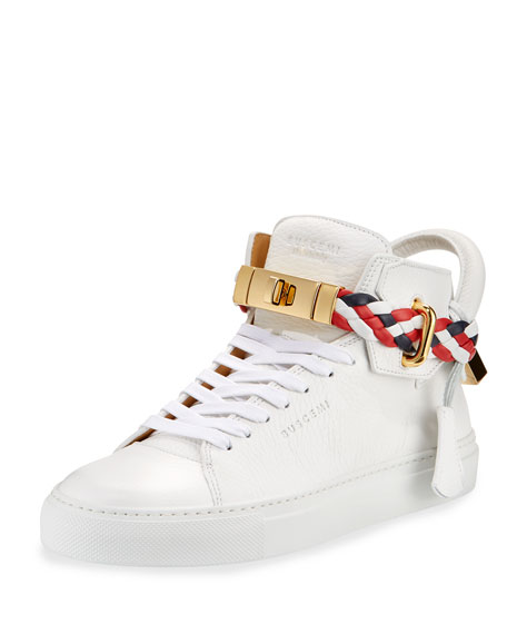 Buscemi Women's 100mm Turn-Lock Braided High-Top Sneaker