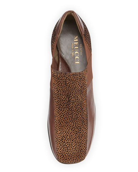 Geneva Embossed Leather Slip-On, Cognac