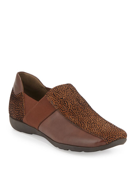 Sesto Meucci Geneva Embossed Leather Slip-On, Cognac