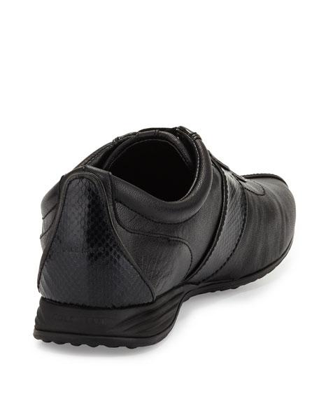 Bria Grand Snake-Print Sneaker, Black/Snake Print