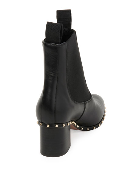 Soul Stud Leather Chelsea Boots, Black (Nero)