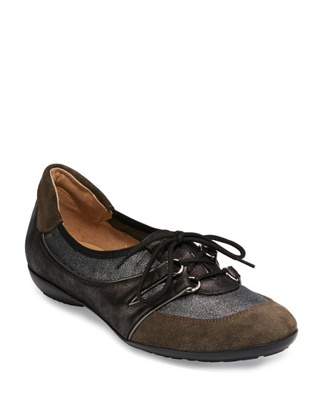 Bonnie Stretch Suede Sneakers, Pewter