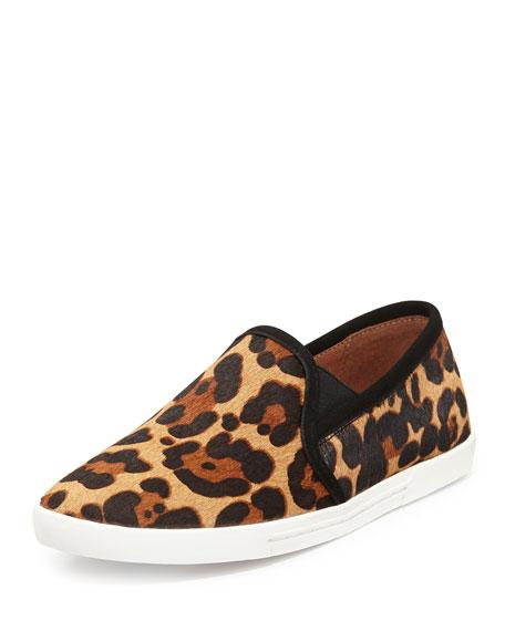 Joie Kidmore Leopard-Print Calf Hair Slip-On