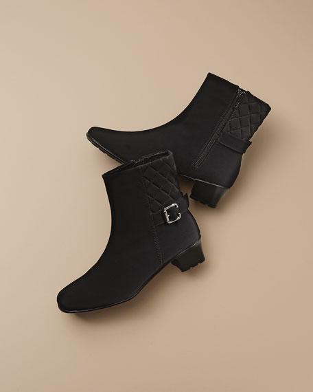 Yannik Weatherproof Quilted Ankle Boot, Black