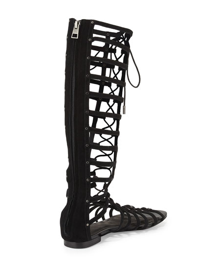 Falicia Tall Gladiator Sandal, Black